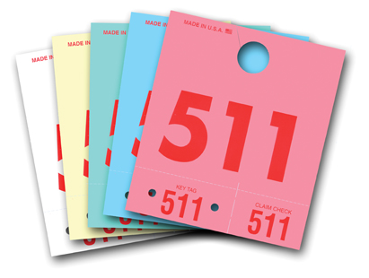 Colored Dispatch Numbers & Key Tags - Form #3D-NR